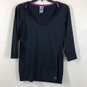 The North Face Top w/Hoodie Black M Activewear